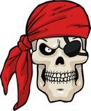 Cartoon pirate skull Royalty Free Stock Photo