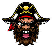 Cartoon Pirate Sports Mascot Stock Image