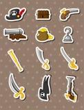 Cartoon pirate stickers. Vector,illustration Stock Photos