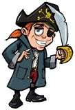 Cartoon pirate with a sword Royalty Free Stock Image
