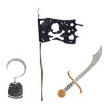cartoon pirate things Stock Photos