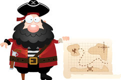 Cartoon Pirate Treasure Map Royalty Free Stock Image