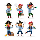 Cartoon pirate vector character Stock Images
