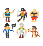 Cartoon pirate vector character Royalty Free Stock Images
