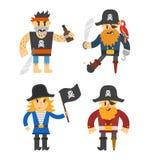 Cartoon pirate vector character Stock Photos