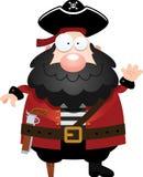 Cartoon Pirate Waving Stock Images