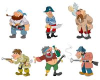 Cartoon pirates and robbers Stock Photography