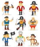 Cartoon pirates vector set. Royalty Free Stock Photography