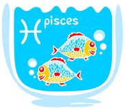Cartoon pisces Royalty Free Stock Photo
