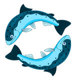 Cartoon pisces Royalty Free Stock Images