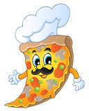 Cartoon pizza chef Stock Images