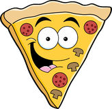 Cartoon pizza slice Royalty Free Stock Photography