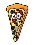 Cartoon pizza slice Stock Images