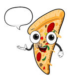 Cartoon Pizza With Text Royalty Free Stock Images