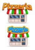 Cartoon pizzeria icon Stock Images