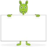Cartoon with Placard Royalty Free Stock Image