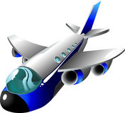 Cartoon plane Royalty Free Stock Images