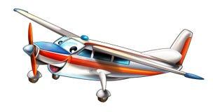 Cartoon plane - avionette - caricature Stock Image