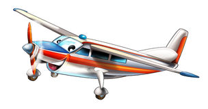 Cartoon plane Royalty Free Stock Photo