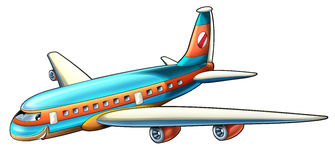 Cartoon plane. Beautiful illustration for the children Stock Image