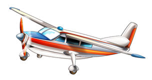 Cartoon plane Stock Photography