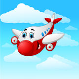 Cartoon plane character Royalty Free Stock Photography