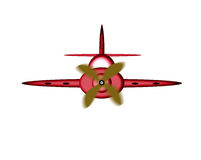 Cartoon plane. Royalty Free Stock Photography
