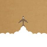 Cartoon plane launch Royalty Free Stock Image