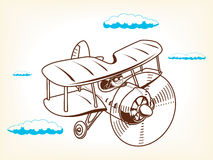 Cartoon plane vector illustration Royalty Free Stock Photography