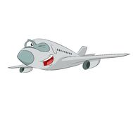 Cartoon plane Stock Image