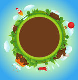 Cartoon Planet Royalty Free Stock Images