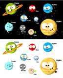 Cartoon Planets. Funny planets from our solar system