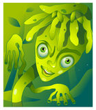 Cartoon plant character. Little plant character in cartoon style Royalty Free Stock Image