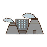 Cartoon plant nuclear and factory building. Illustration eps 10 Royalty Free Stock Photography