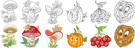 Cartoon Plants set stock photos