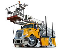 Cartoon Platform Lift Truck Stock Image