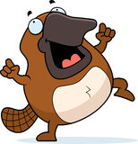 Cartoon Platypus Dancing Royalty Free Stock Photos