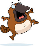 Cartoon Platypus Jumping Royalty Free Stock Image