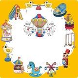 Cartoon playground card Stock Photos