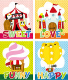 Cartoon playground card Stock Photo