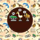 Cartoon playground card Stock Images