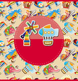 Cartoon playground card Royalty Free Stock Images