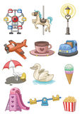 Cartoon Playground icon. Vector drawing Stock Photography