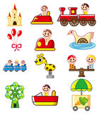 Cartoon Playground icon Stock Photos
