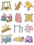 Cartoon Playground icon. Vector drawing Stock Photos