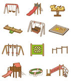 Cartoon playground icon. Vector drawing Royalty Free Stock Photo
