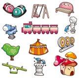 Cartoon playground icon. Drawing Stock Image