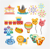 Cartoon Playground icon Stock Image