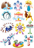 Cartoon playground icon set Royalty Free Stock Photo
