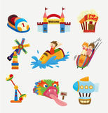 Cartoon playground icons. Illustration Stock Photography